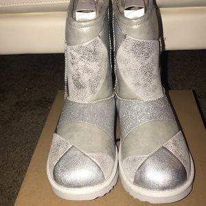 Silver Glittered ugg